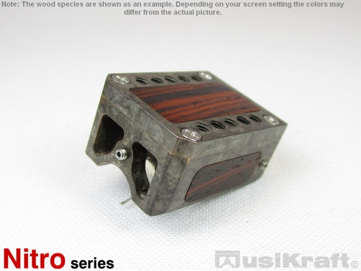 Audio MusiKraft Silver Nitrate on Black Patinated Bronze Nitro 1 Cartridge