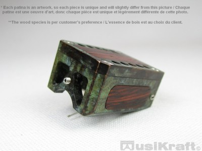 Audio MusiKraft DL-103 Copper and Iron Nitrate Patinated Bronze Cartridge