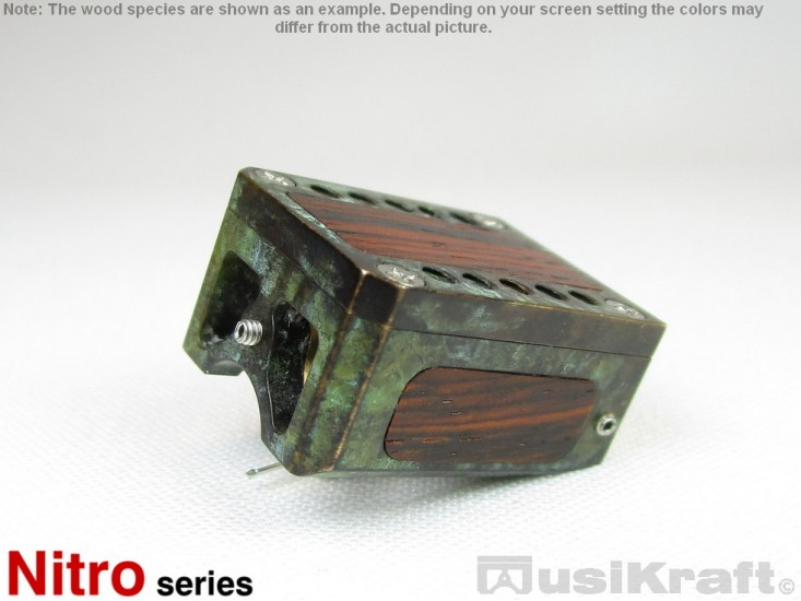 Audio MusiKraft Copper and Iron Nitrate Patinated Bronze Nitro 2 Cartridge