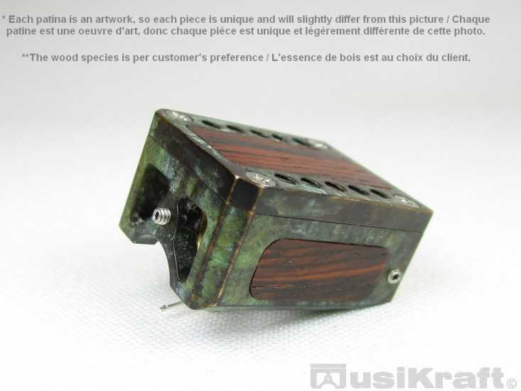 Audio MusiKraft DL-103R Copper and Iron Nitrate Patinated Bronze Cartridge