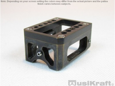 Audio MusiKraft Black Acid Patinated Bronze Shell for Denon DL-103