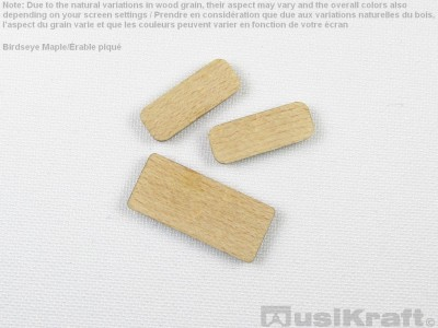 Birdseye maple wood inserts (set)