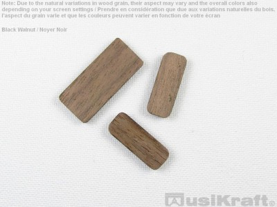 Black walnut wood inserts (set)