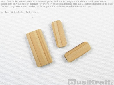 Northern white cedar wood inserts (set)