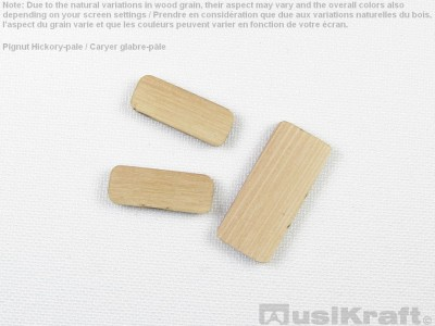 Pignut hickory-pale wood inserts (set)