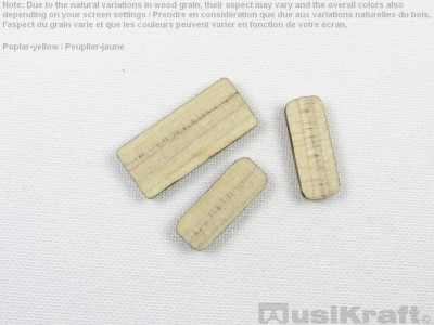 Poplar-yellow wood inserts (set)