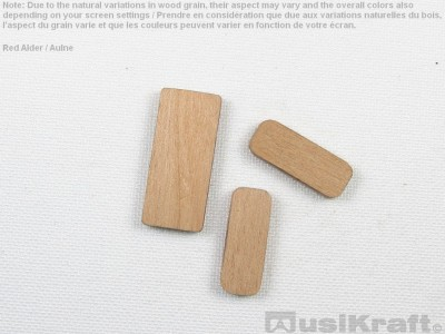 Red alder wood inserts (set)