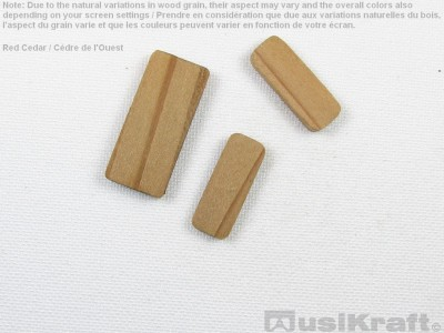 Western red cedar wood inserts (set)