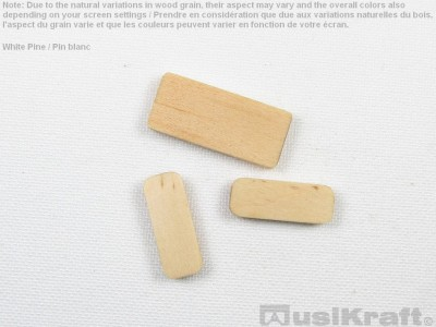 White pine wood inserts (set)